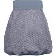 Damen Rock Farbe Jeansblau Gänseblümchen Knielang   Dehnbarer Bund Umfang bis 110cm   praktisch geeignet Umstandsrock   Einheitsgröße Bekleidung