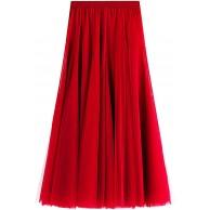 FEOYA Rock Tüll Tutu Hochzeitsrock Elastische Taille Petticoat Prinzessin Knielang Frühling Sommer Rockabilly Abendparty Bekleidung
