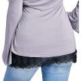 Guanghuansishe Damen Verstellbare Schichtung Fake Hoodie Extender Rock Mini-Unterrock Teilen Half Slips Röcke Mini Skirt Shirt Extender Verstellbare Schichtung Fake Top Halblang Splitting Bekleidung