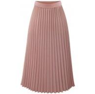 OYSOHE Damen High Waist Chiffon Solide Plissee Elegante Midi Elastische Taille Maxi Rock Bekleidung