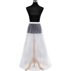 Reifrock Petticoat aus Satin 1 Ring Taille Umfang bis 110cm JL4818WXT Bekleidung