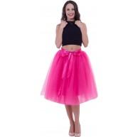 SCFL Frauen Tutu Rock Petticoat Underskirt Ballett Rock Half Slip Purpurrot Einheitsgr??e Bekleidung