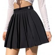 Shujin Damen Mädchen Faltenrock Hohe Taille Mini Rock Basic Rock Kariert Tennis Schule Röcke Retro Skater Rock mit Shorts Bekleidung