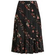 Vila Damen Vimasti Midi Skirt Ka Rock Bekleidung
