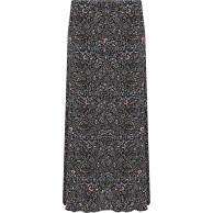 WearAll Damen Plus Blumen Maxi Rock Damen Druck Voll Länge Elastische Taille - 42-56 Bekleidung