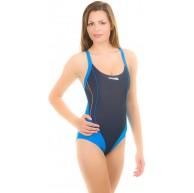 Aqua Speed Izabella Badeanzug Newport Dameneinteiler Pro Back Schwimmrücken ModellIzabel blau navy;Größen40 Bekleidung