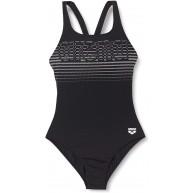 ARENA Damen Damen Sport Badeanzug Logo Stripes Badeanzug Bekleidung