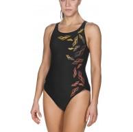 arena Damen Sport Badeanzug Maracala Schnelltrocknend UV-Schutz UPF 50+ Chlor- Salzwasserbeständig Black-Turquoise 508 38 Bekleidung