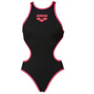 arena W One Biglogo Damen-Kostüm damen 001198 Nero Fluo Rosso Gr.36 Bekleidung
