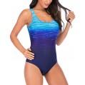 KEERADS Badeanzug Damen Bauchweg Figurformend Push Up Große Größen Sportlich Beachwear Bademode Strandmode Bekleidung
