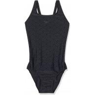 Speedo Damen Boomstar Allover Muscleback Badeanzug Schwarz Oxid Grey 34 DE 38 Bekleidung