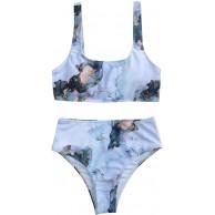 WFRAU Damen Bikini Set Frauen Dinosaurier-Druck Triangel Badeanzug Strap Bademode Teenager-Mädchen Sommer Zweiteiliger Tie Dye Unterbrustband Push Up Bikini BH Schwimmanzug Strandkleidung Bekleidung