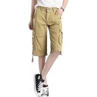 Cool&D Damen Shorts Cargo Shorts Bermudas Kurze Hosen Freizeit Sports Shorts mit Multi Pockets Bekleidung
