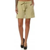 Damen Shorts Hot-Pants Kurze Sommer Hose Stoffhose DA 15991 Bekleidung