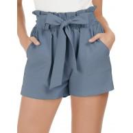 GRACE KARIN Damen Shorts Sommer Elastische Kurze Hose mit Tunnelzug CL1093 Bekleidung