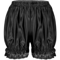 iixpin Damen Spitze Sicherheits Shorts Sicherheitshosen Under Shorts Unterhose Unterrock Lolita Shorts Kurz Hose Schwarz One Size Bekleidung