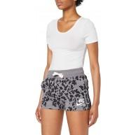 Nike Damen W NSW Gym VNTG Leopard Shorts Bekleidung