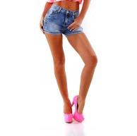 OSAB-Fashion 4005 Damen Jeans Hotpants Denim Shorts Kurze Hose Hot Pants Slimfit Basic Bekleidung
