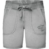 SOCCX Damen Sweatshorts mit Used-Optik und Print Bekleidung