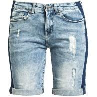 Sublevel Ladies Bermuda Frauen Short blau M 98% Baumwolle 2% Elasthan Basics Streetwear Bekleidung