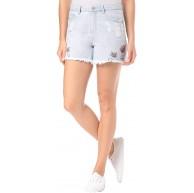 Vila Clothes Damen Vimakkas Patch Shorts Blau Light Blue Denim Light Blue Denim 28 Bekleidung