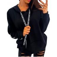 BaZhaHei Damen Plus Size Langarm Solid Oversize Sweatshirt Kapuze Pullover Tops Shirt Hoodie Crop Bluse Mit Kapuze Jacke Frauen Pulli Hoody Kapuzenpulli Hoodies Bekleidung