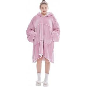 BOxinkk Kapuzenpullover Herren Damen,Hoodies für Damen Oversize Vintage,Sweatshirt Jacke Herren,warme Kleidung für Frauen,Hoodie Sweatshirt Decke Damen Herren Rosa Bekleidung