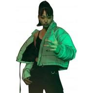 Efanhony Damen Warme Winterjacke Reflektierende Parka Jacke Wintermantel mit Kapuze Classics Daunenjacke Hooded Puffer Steppjacke gefüttert Kapuzenpullover Adult Sweatshirt Grau Bekleidung