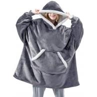 Shamdon Home Collection Oversize Hoodie Decke Damen Unisex Kapuzenpullover Riesen-Sweatshirt Super weich und bequem Geeignet für Erwachsene Männer Frauen Jugendliche Bekleidung