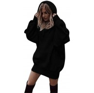Yuwegr Kapuzenpullover Damen Hoodie Sweatshirt Kleid Kapuzenpulli Streetwear Frauen Langarm Pullover Coat Hoody Bekleidung