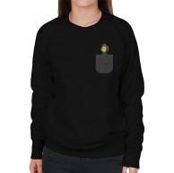 Cloud City 7 Peppermint Patty Pocket Print Peanuts Women's Sweatshirt Bekleidung