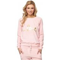 Damen Samt-Sweatshirt mit Druck - MAK29 Bekleidung