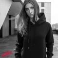 DELUNO Ich Hasse Menschen Damen Pullover mit Kapuze Frauen Kapuzenpullover mit Motiv Spruch Bedruckt Print Hooded Bekleidung