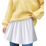 Extender Minirock Damen Basic Schichtung Einstellbare Innenrock Vielseitiger A Version Halblanger Rock Mode Wild Lässige Modern Unterrock Damenmode Für Sweatshirt Pullover Sweatshirt Jacke Shirt Bekleidung