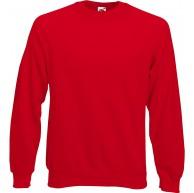 Fruit of the Loom Raglan Sweatshirt XXL Red Bekleidung