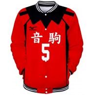 Haikyuu!! to The TOP Jacke Baseball Sweatshirt Anime Pullover Volleyball Fans Freizeitmäntel Langarm Tops Mode Mäntel für Männer Frauen Bekleidung