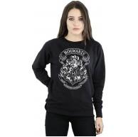 Harry Potter Damen Hogwarts Crest Sweatshirt X-Large Schwarz Bekleidung