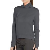 icyzone Damen Rollkragen Langarm Sweatshirt Basic Einfarbig Oberteile Rollkragenpullover Bekleidung