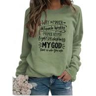LXHcool Waymaker Miracle Worker Promise Keeper Johannes 3 16 - Christian Lustiges Sweatshirt Color Green Size Medium Bekleidung