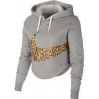 Nike Damen W NSW Hoodie Crop Anml Sweatshirt Bekleidung