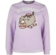 Pusheen Life is Sweet Frauen Sweatshirt rosa Fan-Merch Film Katzen Zeichentrick Bekleidung