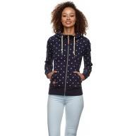 Ragwear Zipper Damen PAYA DOTS 2021-30041 Dunkelblau Navy 2028 Bekleidung