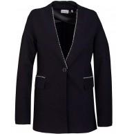 rich&royal Damen Blazer with Pearl Detail Sweatshirt Bekleidung