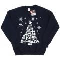 Star Wars Damen Christmas Tree Sweatshirt X-Large Deep Navy Bekleidung