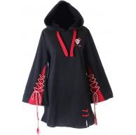 TS-209 Schwarz rot Bänder Rentier Japan Kapuzen-Pullover Sweatshirt Harajuku Kawaii Bekleidung
