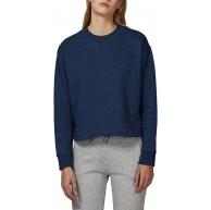 YTWOO Damen Loses und Bauchfreies Bio Sweatshirt mit breitem Kragen aus 100% Bio-Baumwolle Damen Bio Pullover Bauchfrei Bio Sweater Organic Cotton Bekleidung