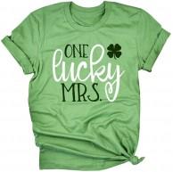 GOKOMO Frauen St.Patrick's Day Prints Kurzarm O-Neck T-Shirt Tunika Bluse Tops Bekleidung