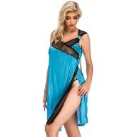 JIAJIJIAJNGY Satin Negligee Dessous Set für Damen Kurz Nachtwäsche Nachthemd Sleepwear Lingerie Spitze Transparent Erotic Babydolls Kleid Bekleidung