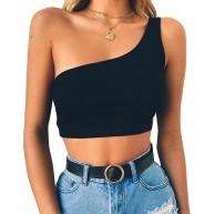 Voicry Frauen Sexy Weste Mode Bluse Leibchen Baumwolle Ärmelloses T-Shirt Bekleidung