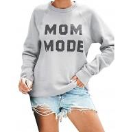 Voicry Womens Crewneck Sweatshirt Langarm Brief drucken Terry lässig niedlichen Pullover Bekleidung